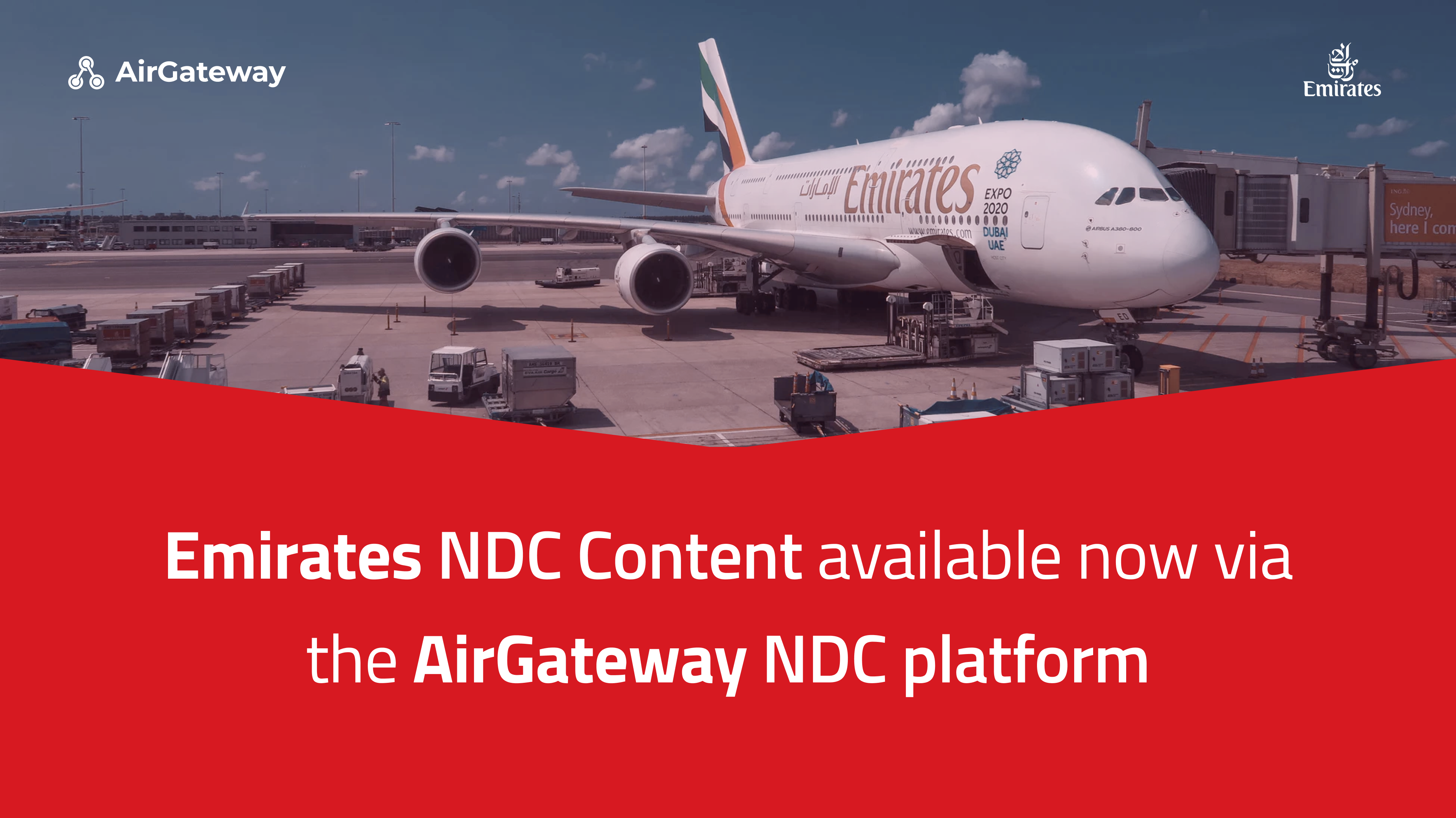 Emirates NDC Content made available through our travel aggregation platform