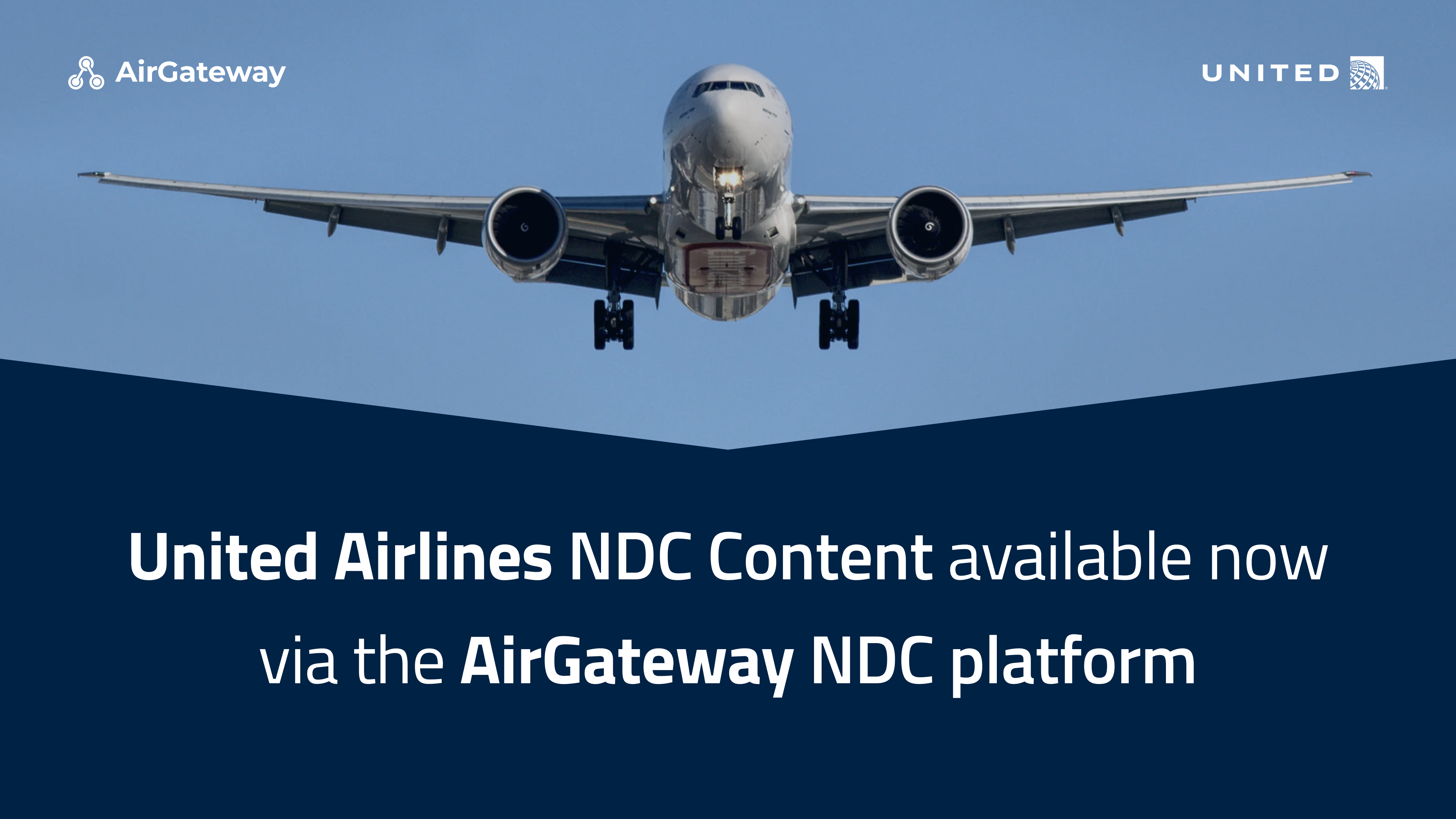 United Airlines content available in AirGateway platform